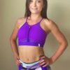 pole dance support bra purple